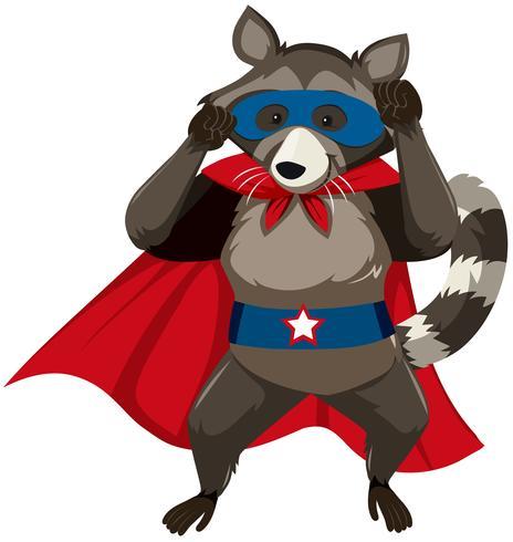 A skunk superhero character vector