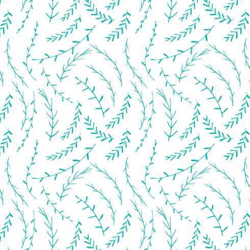 Übergeben Sie gezogenen botanischen Musterhintergrund, dekoratives mit Blumenmuster, Vektorillustration.