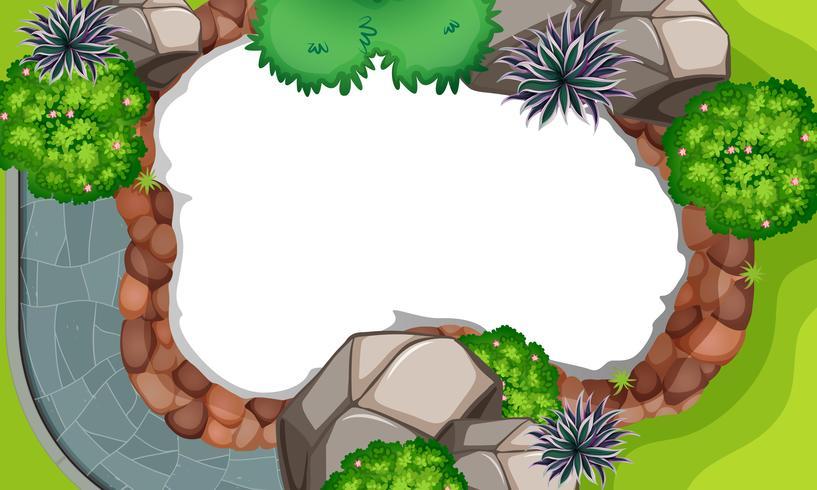Vue aérienne de la scène de la nature