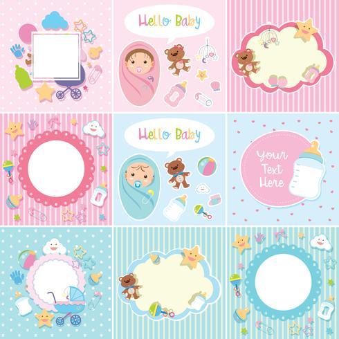 Ensemble de bordure de bébé mignon