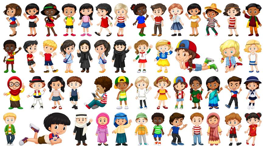 Set of multicultural character vector