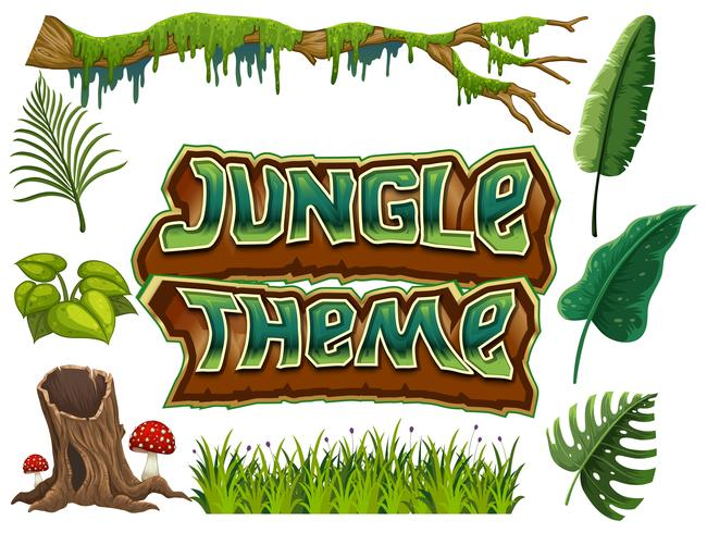 Ensemble de thème de la jungle