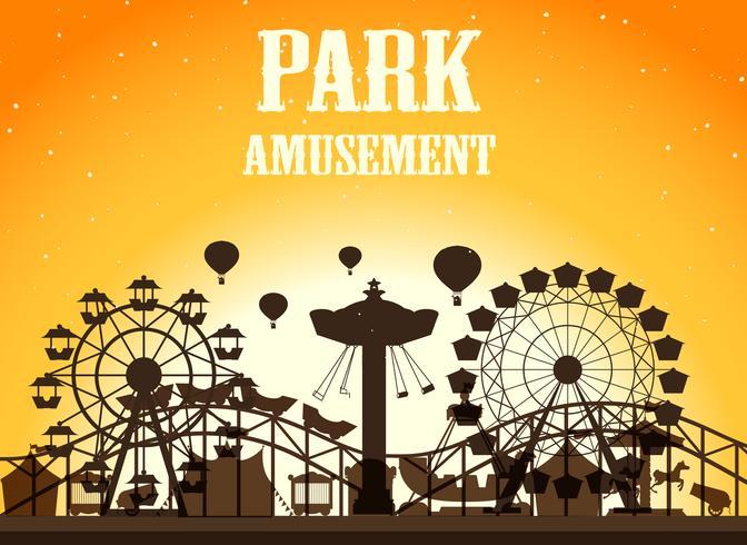 Amusement park silhoutte background