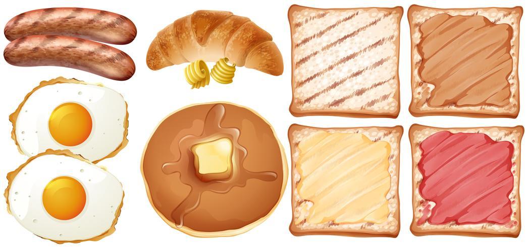 Eine Reihe von Frühstück