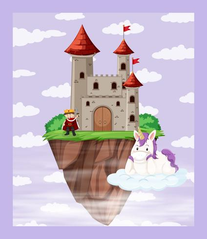 Roi à la scène du château