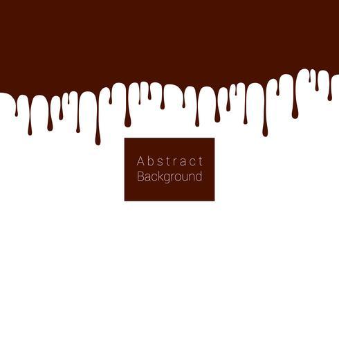 Résumé des gouttes de chocolat fondant sur fond blanc vecteur