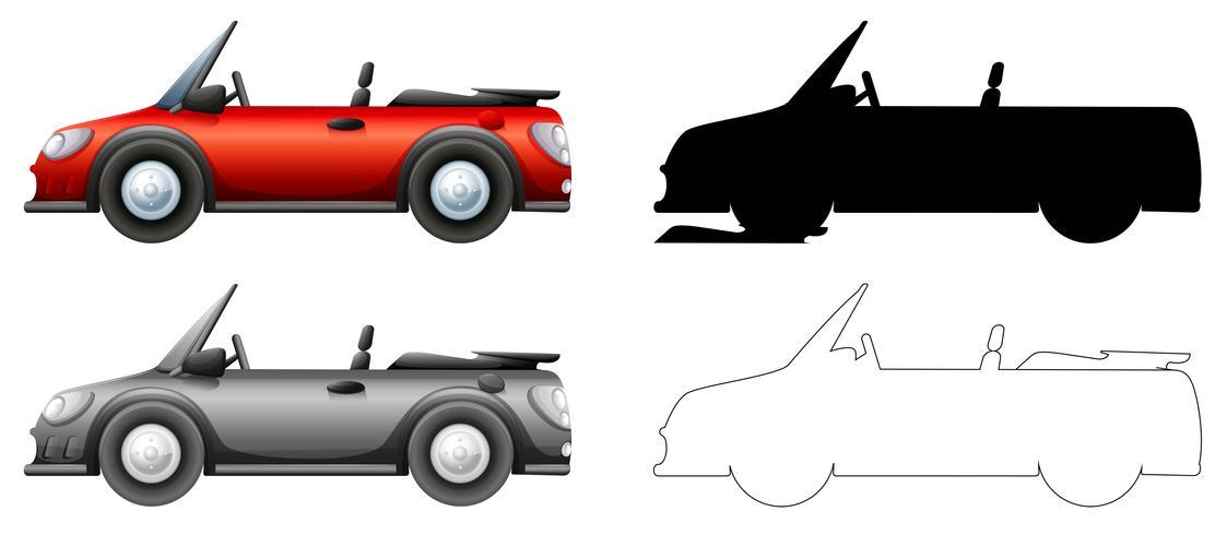 Set di auto sportiva