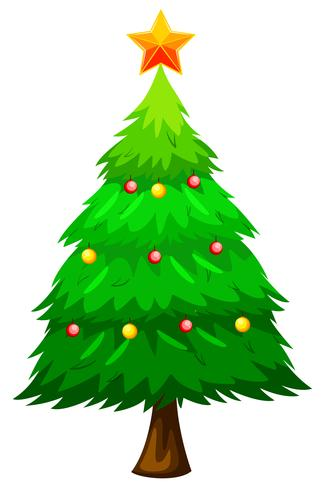 Large green christmas tree vector