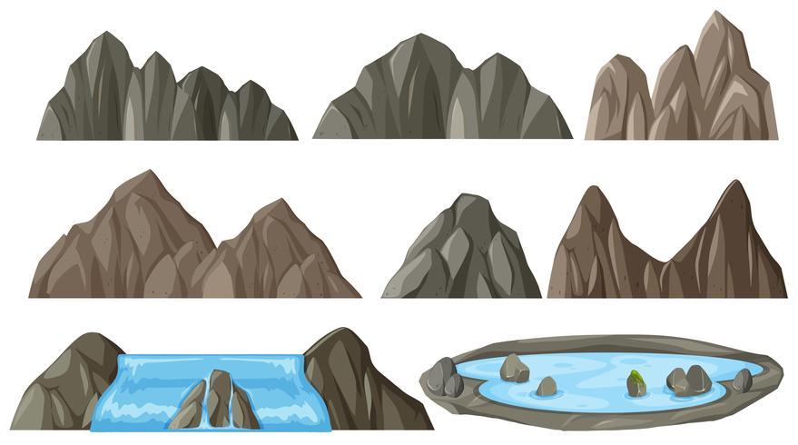 Set di montagna diversa