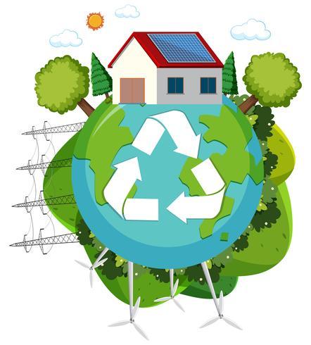 Groen energie recycle logo