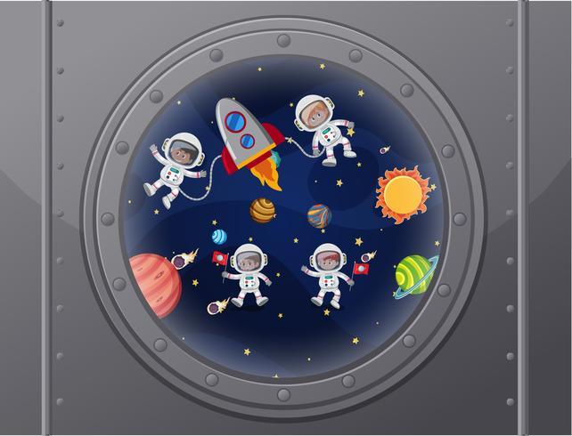 Vue de l'espace du vaisseau spatial