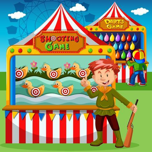 Cabines de jogo no carnaval