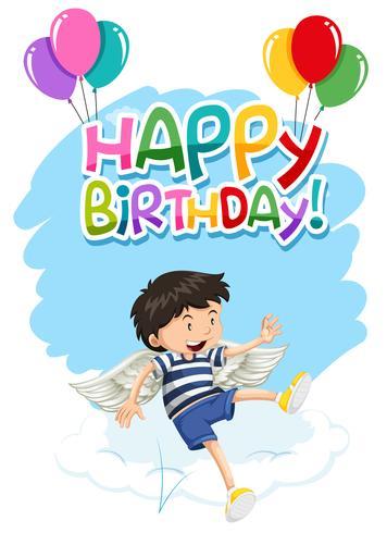 Junge mit Flügeln alles Gute zum Geburtstagkarte