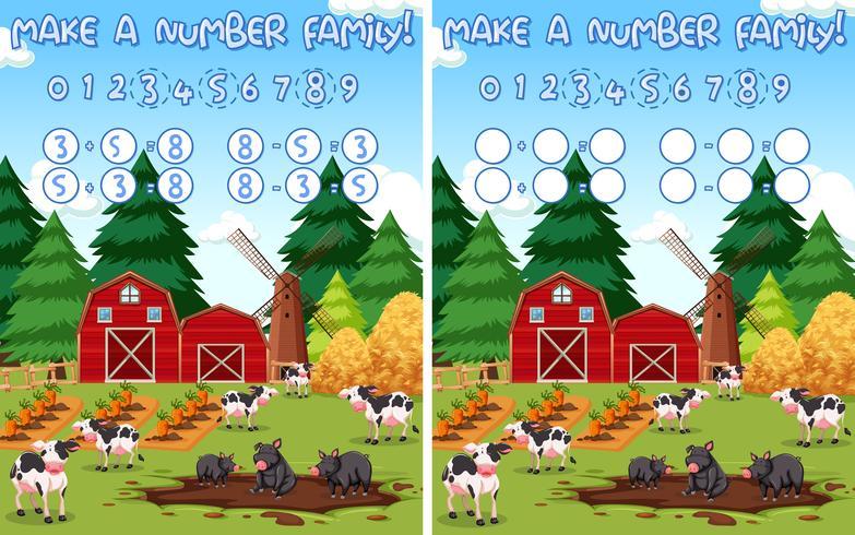 make a number farm maths background vector