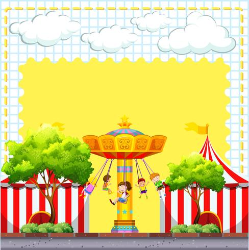 Border design with circus scene