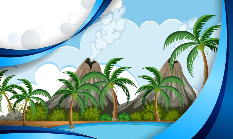 A template of volcano island