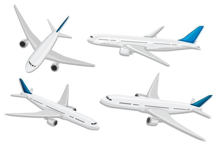 Un conjunto de aviones comerciales.