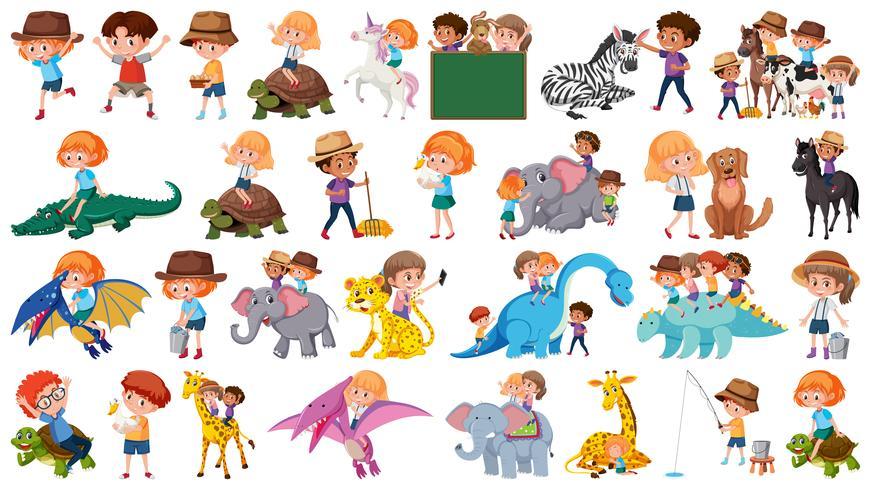 Sats av djur och barn