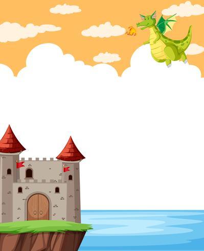 Château de fantaisie sur modèle de note