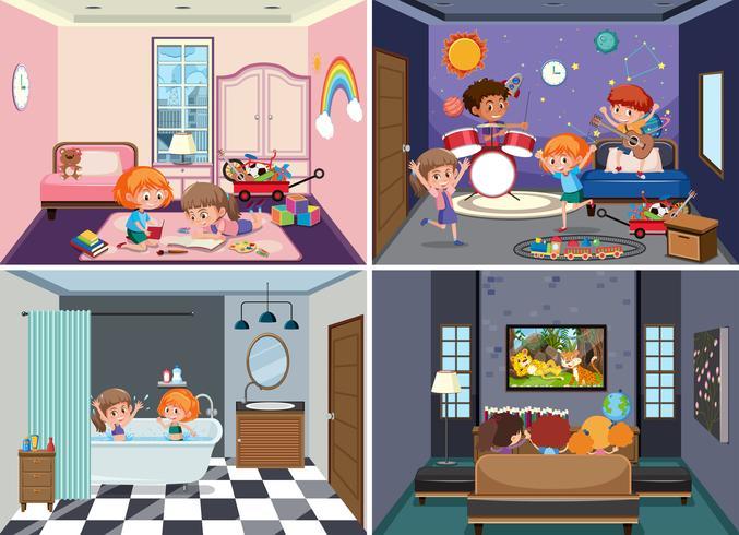 Set van kindertaferelen