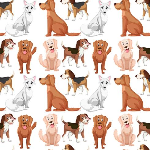 Vielzahl Hund nahtlose Muster