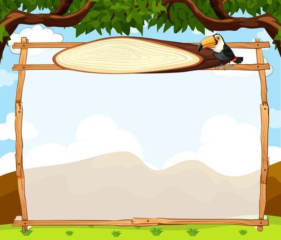 Toucan op aard grens