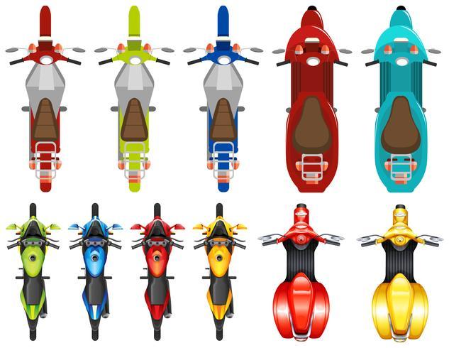 Set van verschillende scooter