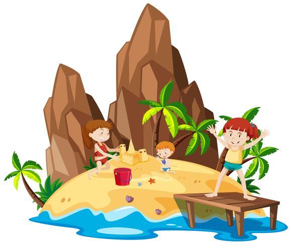 Niños en la isla