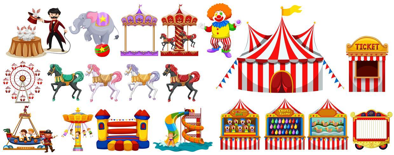 Verschiedene Objekte aus dem Zirkus