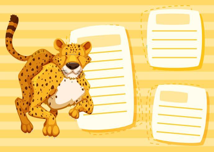 Cadre blanc de guépard jaune