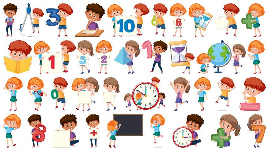 Conjunto de matematicas niños