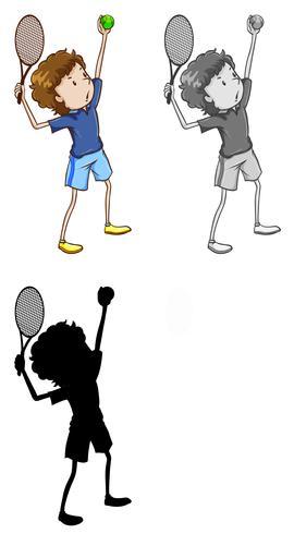Set van tennis speler