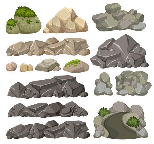 Conjunto de pedras diferentes