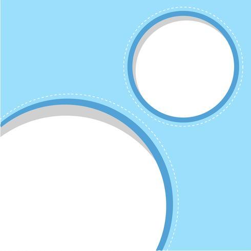 Ciricle blaue Rahmenschablone