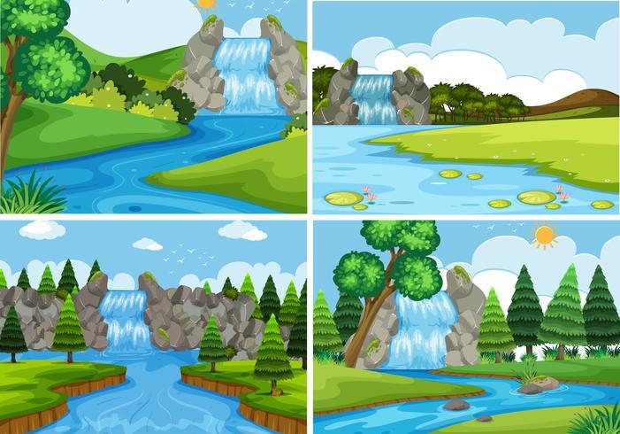 Eine Reihe von Naturwasserlandschaft