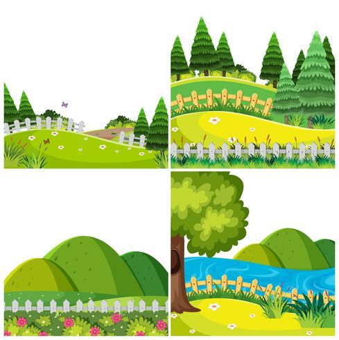 Satz der Gartennaturlandschaft