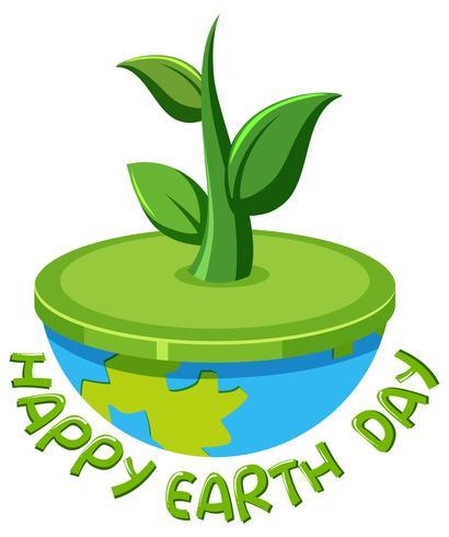 Joyeux jour de la terre logo