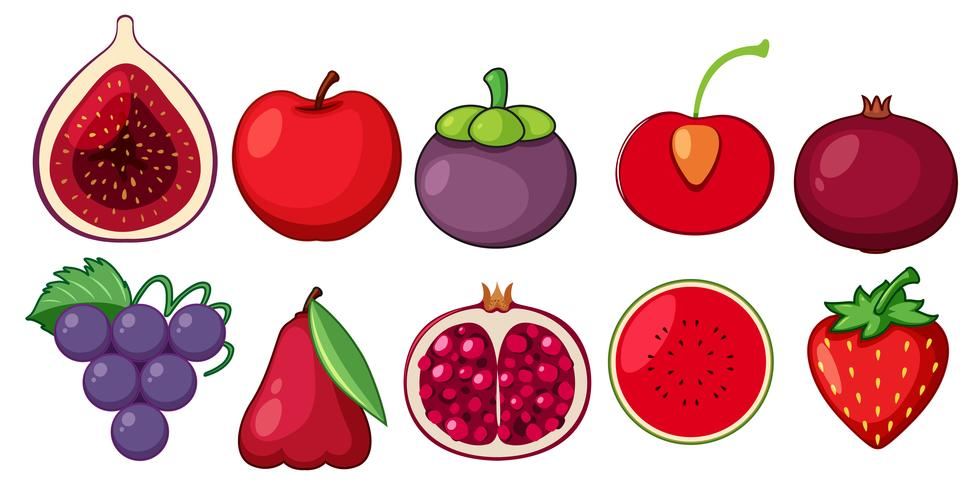 En uppsättning färsk frukt