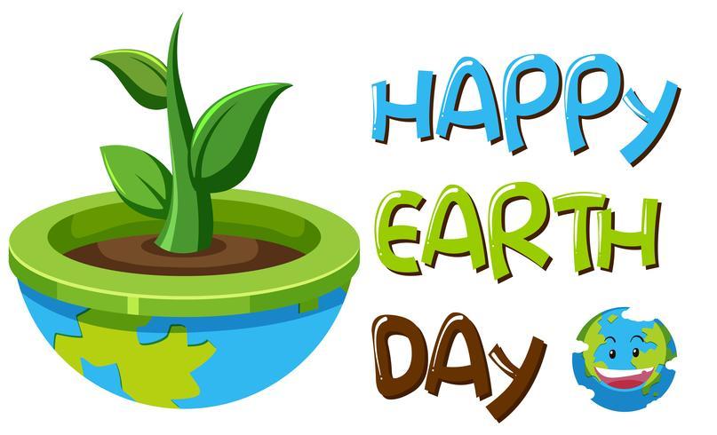 Ein Tag der Erde Symbol