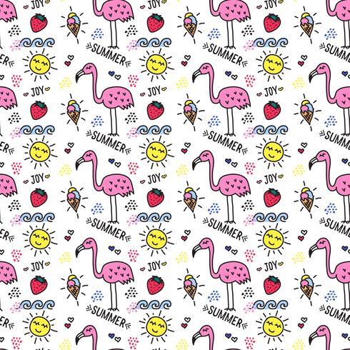 Doodle verano patrón