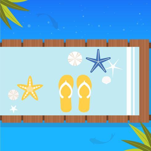 Vektor-Sommerzeit-Illustration