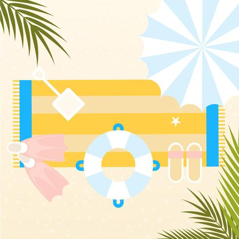 Vector Summertime Elements Illustration