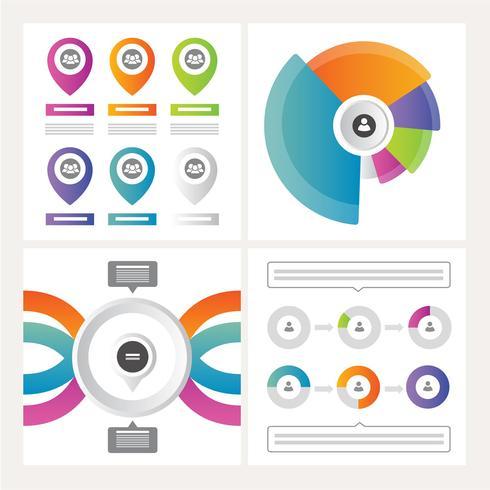 Vector ilustración infografía