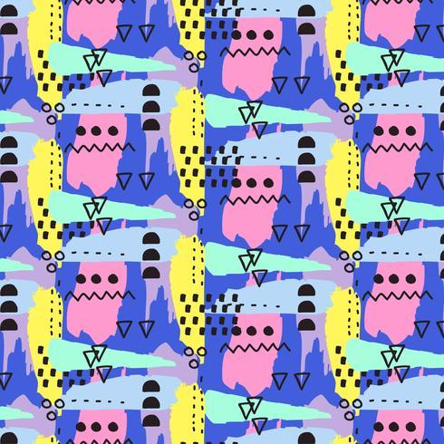 Hand getrokken vector patroon