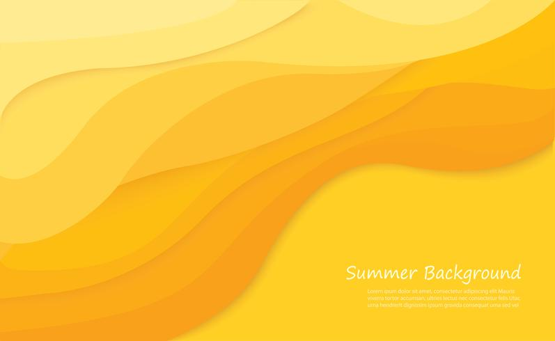 Sandstrand Sommer Hintergrund Vektor-Illustration