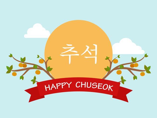 Chuseok oder Hangawi (Korean Thanksgiving Day) Vorlage Hintergrund