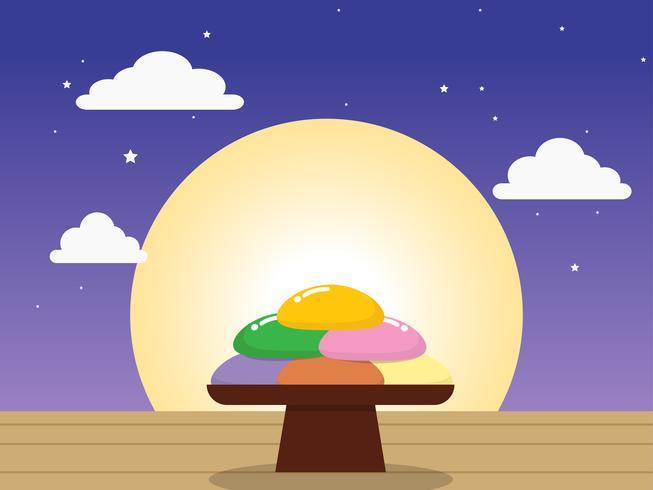 Chuseok of Hangawi (Koreaanse Thanksgiving Day) - Koreaanse rijstwafel (songpyeon)