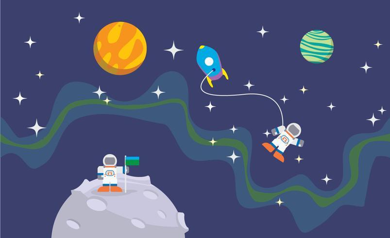 ruimte ontdekkingsreizigers