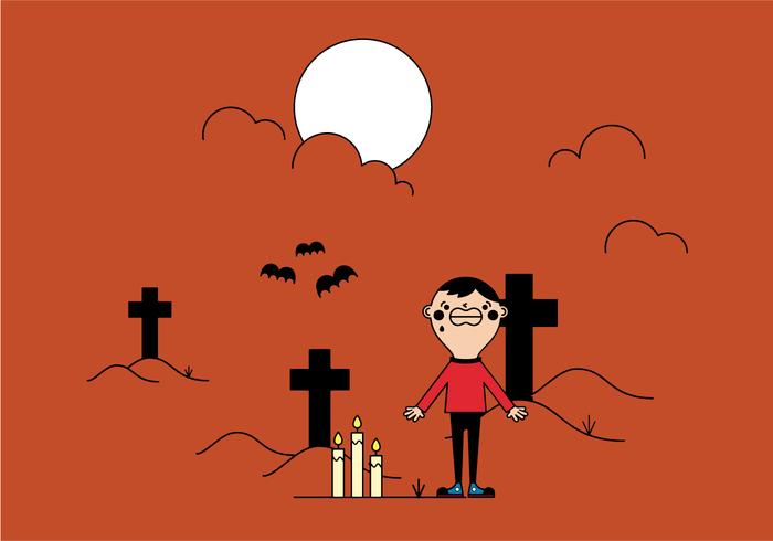 Chico gratis en vector de cementerio