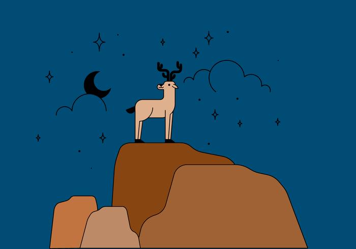 Gratis hjort i bergsvektorn